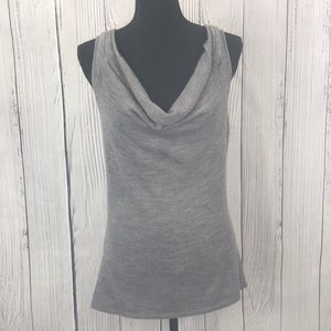 The Limited Gray Cowl Neck Sleeveless Knit Blouse